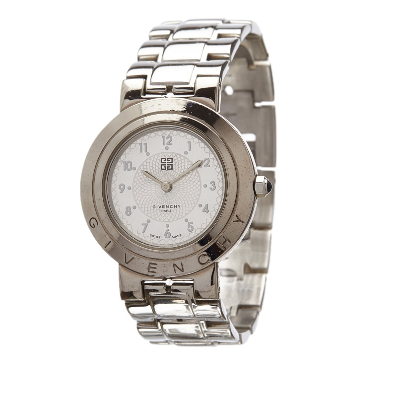Givenchy White Stainless Steel Exception Women's Wristwatch 26MM