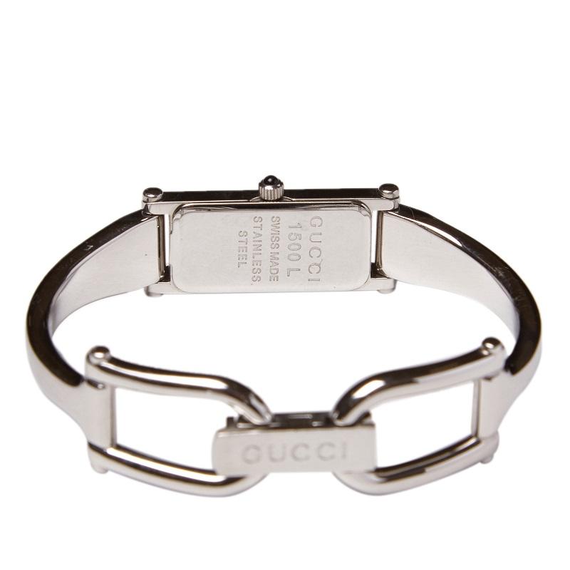 Gucci Cream Stainless Steel 1500L Women's Wristwatch 12MM
