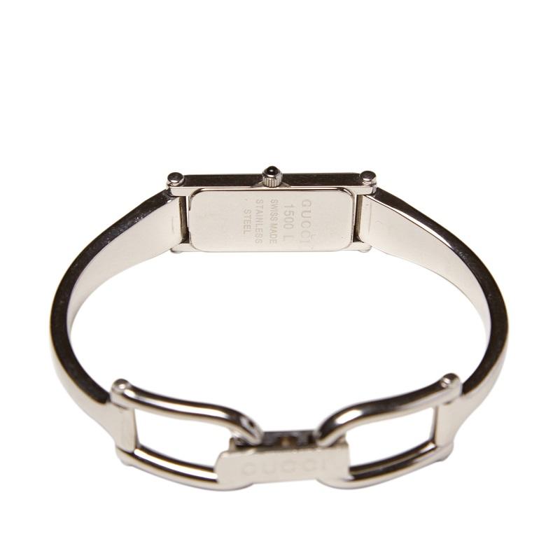 Gucci Black Stainless Steel 1500L Women's Wristwatch 12MM