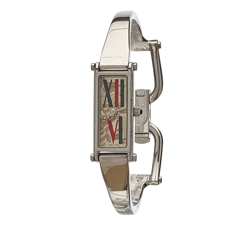 Gucci Red and Green Stainless Steel 1500L Women's Wristwatch 12MM