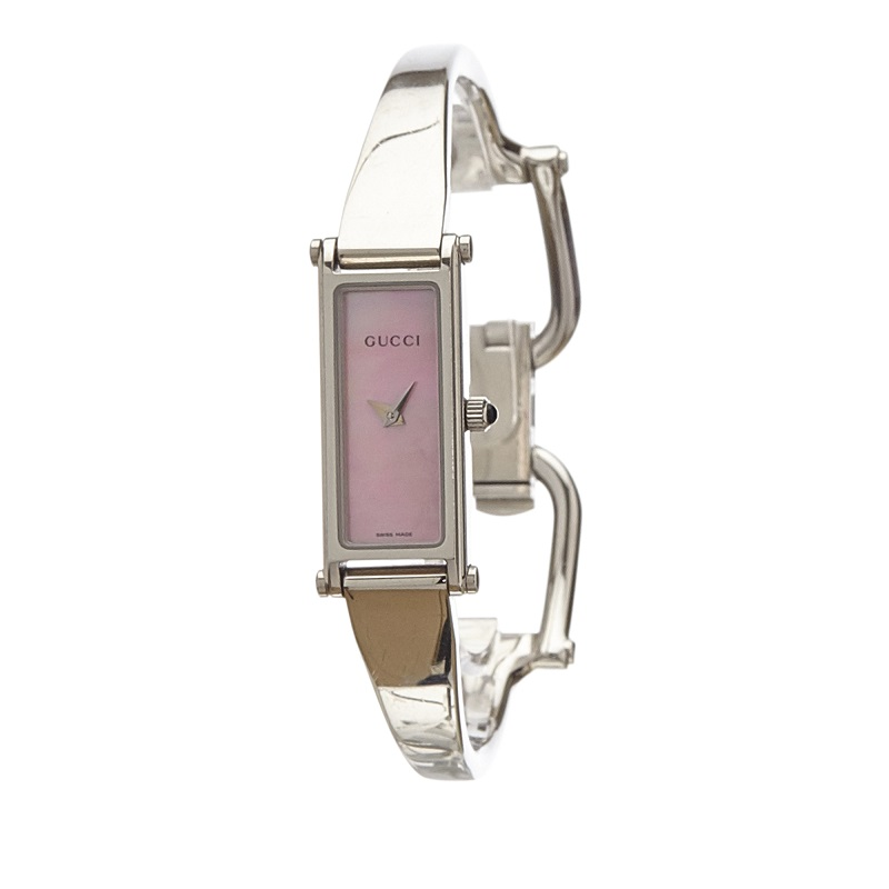 Gucci Pink Stainless Steel 1500L Women's Wristwatch 12MM