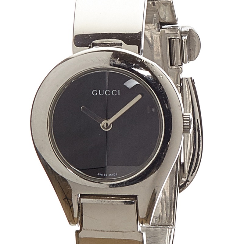 Gucci Black Stainless Steel 6700L Women's Wristwatch 25MM