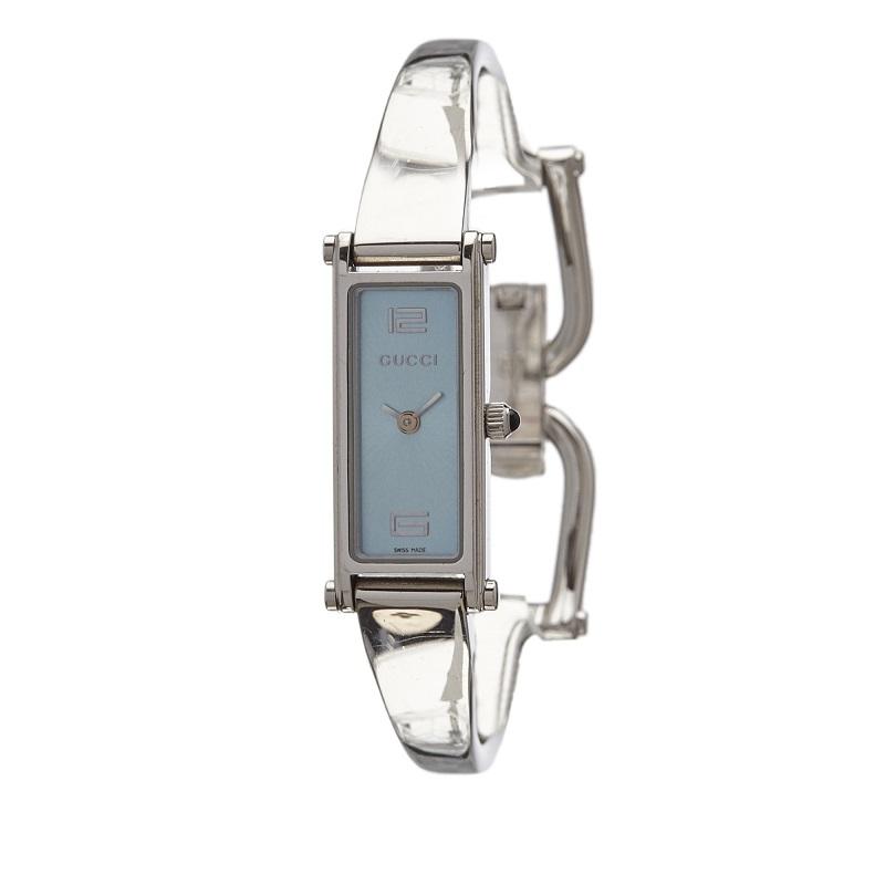 Gucci Blue Stainless Steel 1500L Women's Wristwatch 12MM