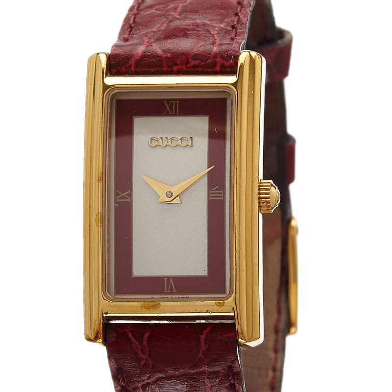 Gucci Grey Gold-Plated Stainless Steel 2600L Women's Wristwatch 20MM