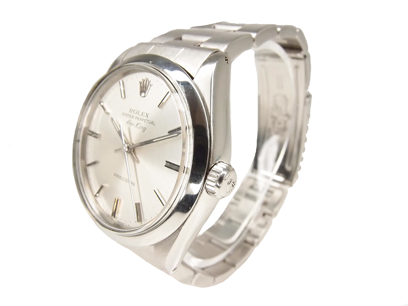 Rolex Silver Stainless Steel Air King Women's Wristwatch 34MM
