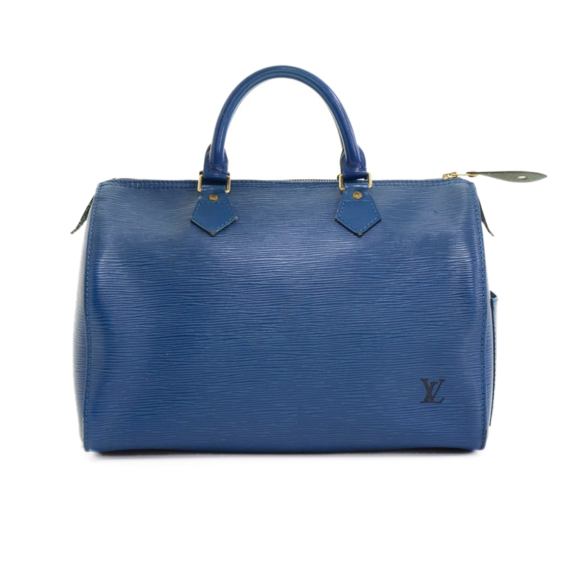 Louis Vuitton Blue Epi Leather Speedy 30
