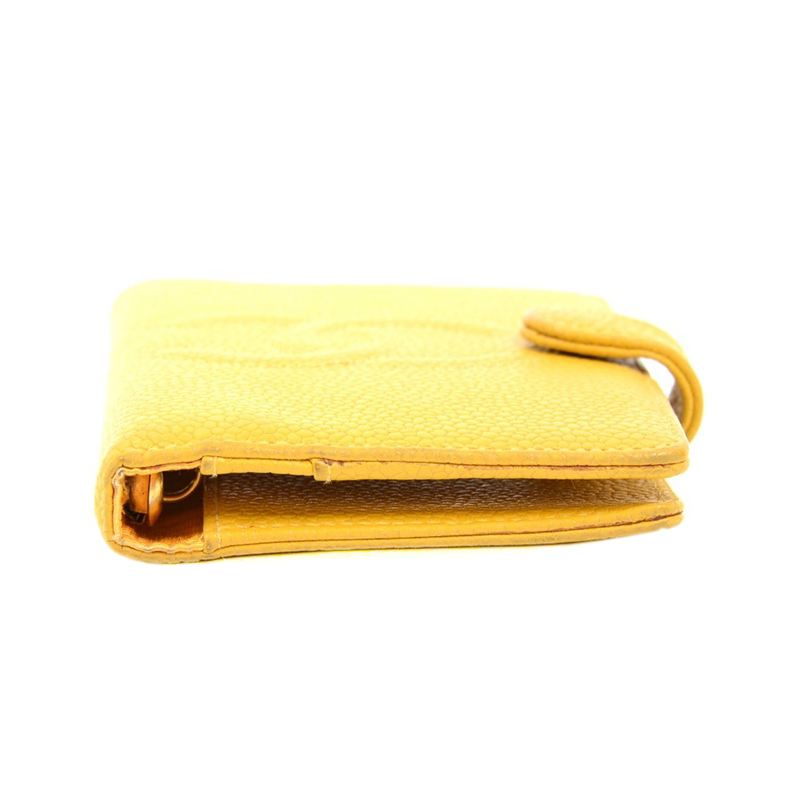 Chanel Yellow Leather CC Small Ring Agenda Cover