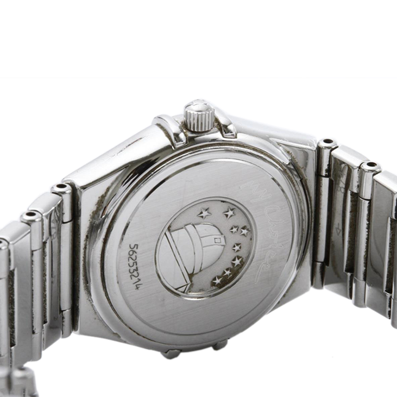Omega Grey Stainless Steel Constellation My Choice Women's Wristwatch 26MM