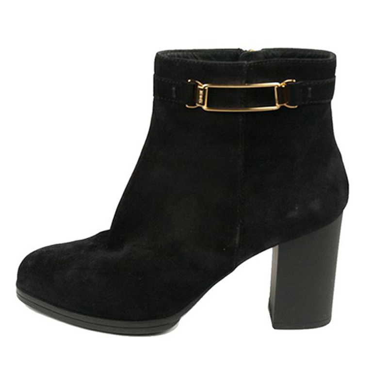 Tod's Black Suede Ankle Boots Size 39