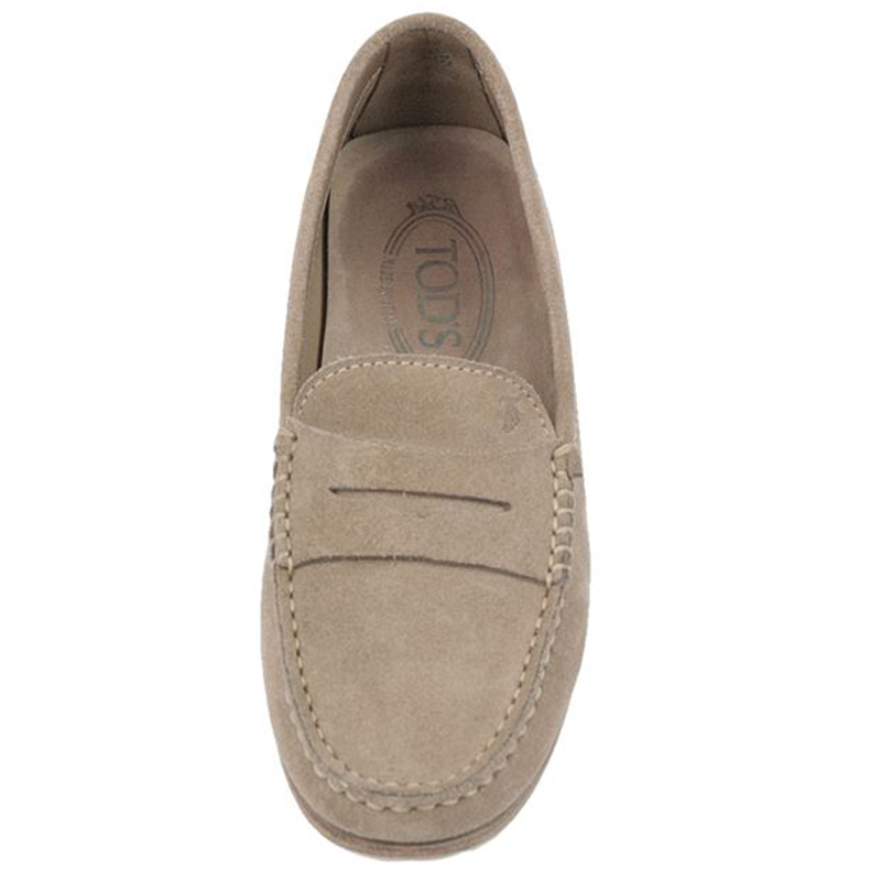 Tod's Beige Suede Penny Loafers Size 35.5