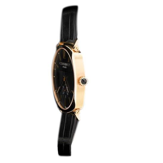 Chaumet Black 18K Rose Gold Dandy Men's Wristwatch 39MM