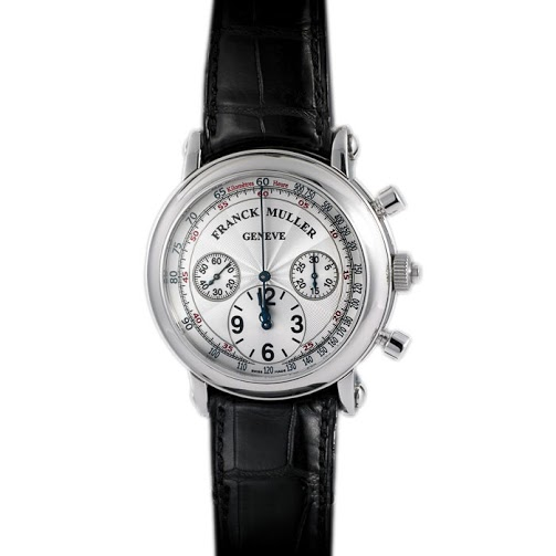 Franck Muller Silver Stainless Steel Rattrapante Double-Split Men's Wristwatch 42MM