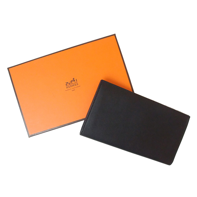 Hermes Black Leather Citizen Wallet