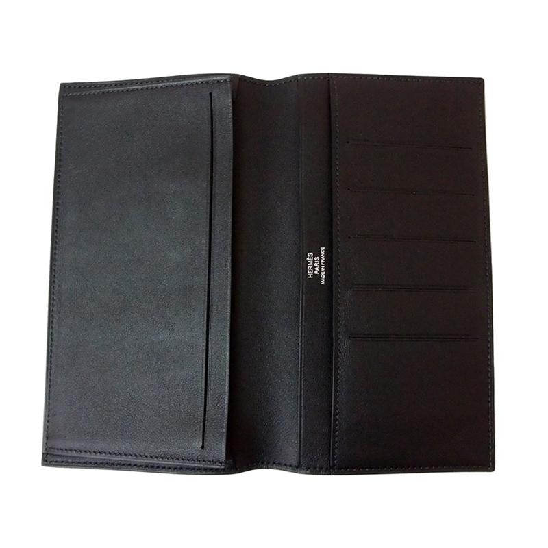 Hermes Black Leather Citizen Wallet
