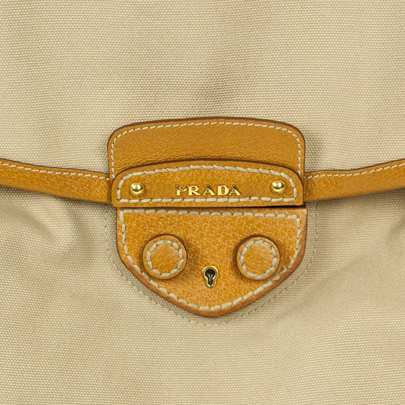 LC - Buy \u0026amp; Sell - Prada Beige Canvas and Leather Top Handle Bag
