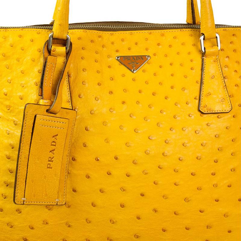 3f02c51da4a4 prada travel purse - LC - Buy \u0026amp; Sell - Prada Yellow Ostrich Tote