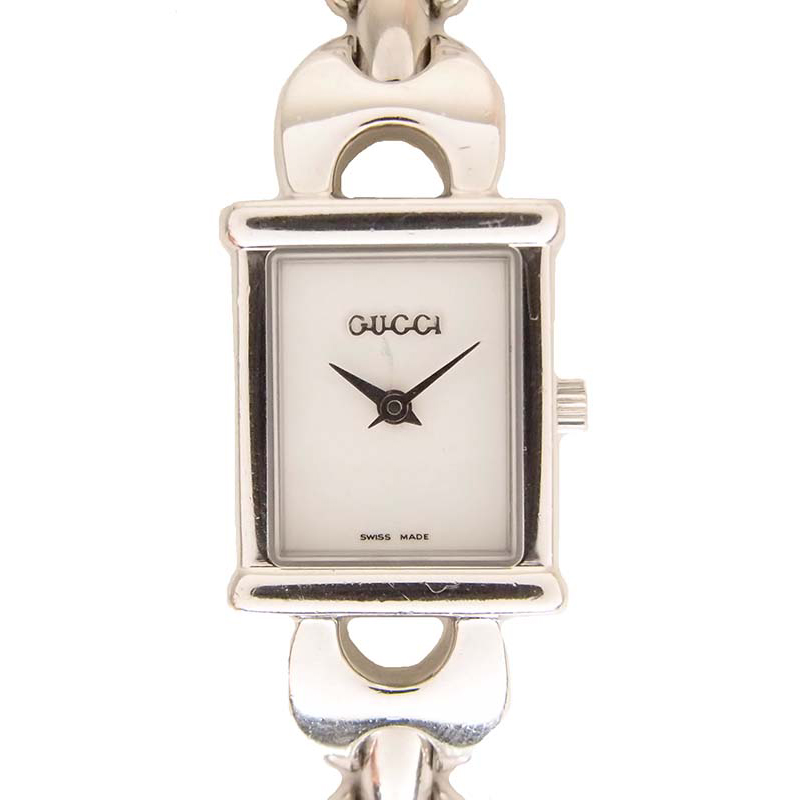Gucci White Stainless Steel 1800L Women's Wristwatch 18MM