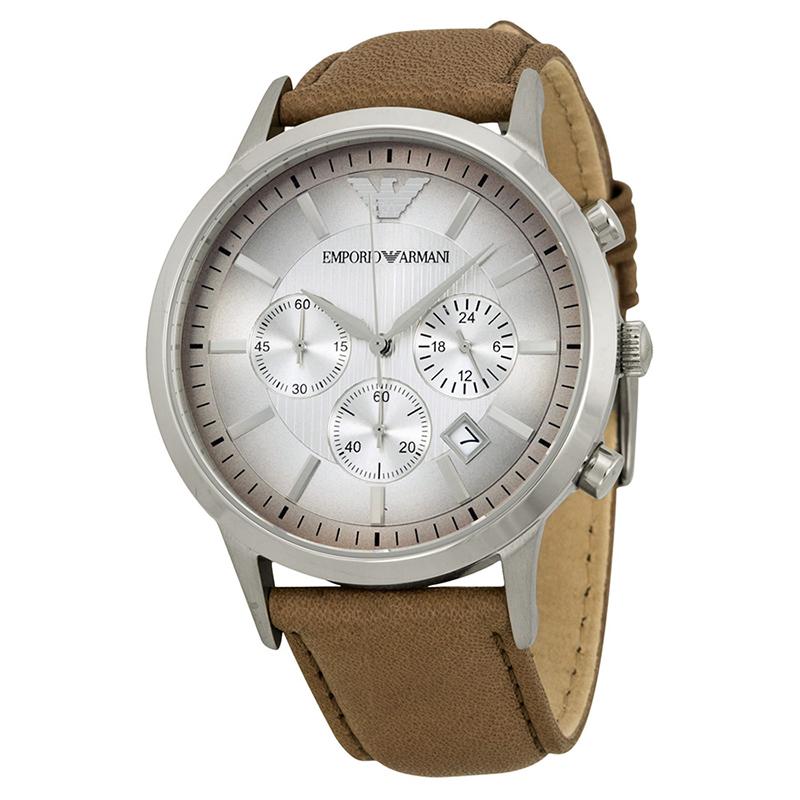 Emporio Armani Silver Stainless Steel AR2471 Men's Wristwatch 43MM