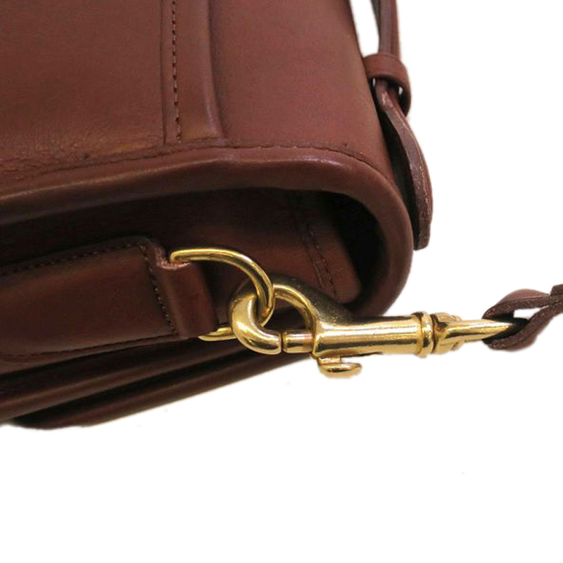 Coach Brown Leather Flap Bag