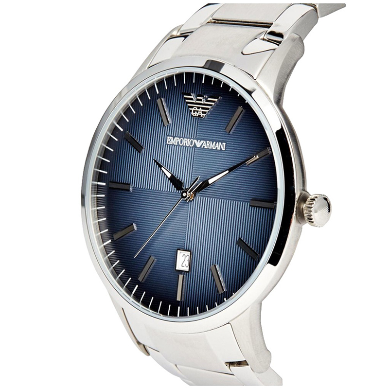 Emporio Armani Blue Stainless Steel AR2472 Men's Wristwatch 43MM