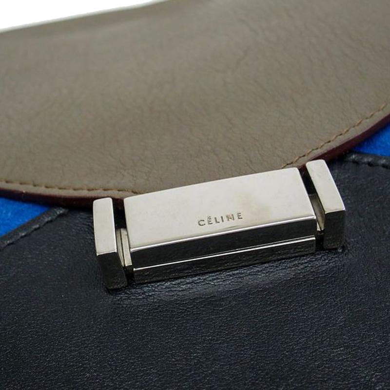 sacs celine - LC - Buy \u0026amp; Sell - Celine Tri Color Leather Diamond Shoulder Bag