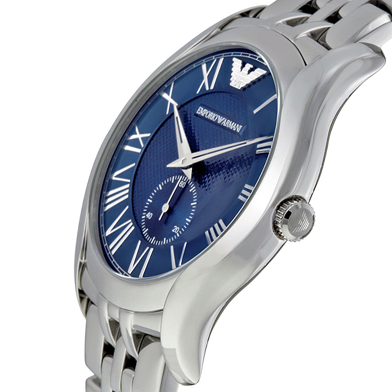 Emporio Armani Blue Stainless Steel AR1789 Men's Wristwatch 43MM