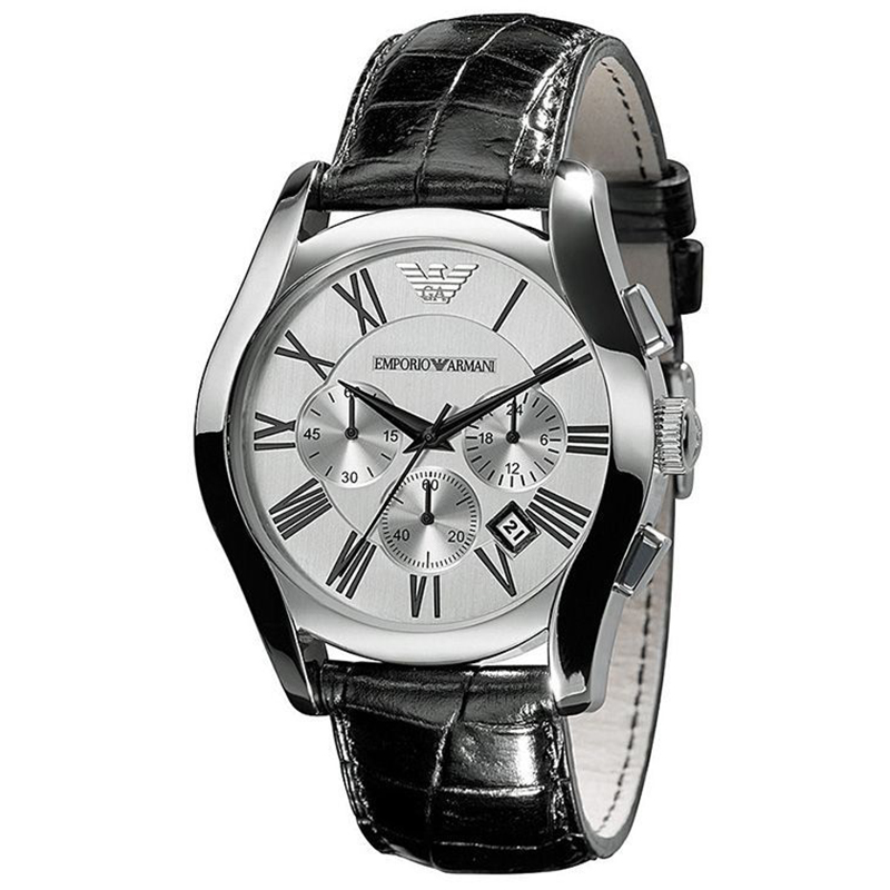 Emporio Armani Silver Stainless Steel AR0669 Men's Wristwatch 42MM
