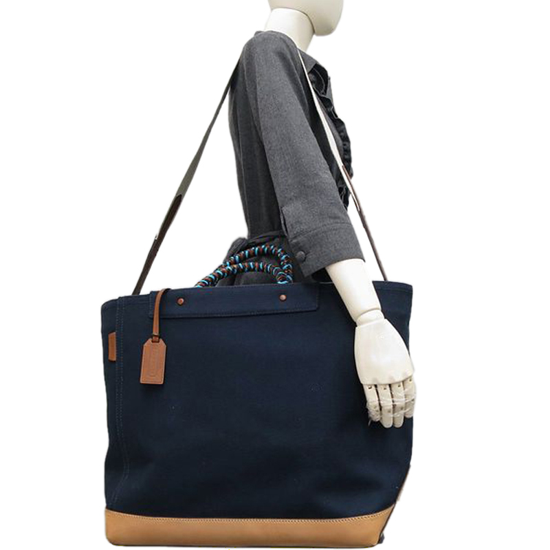 Coach Blue Canvas Tote