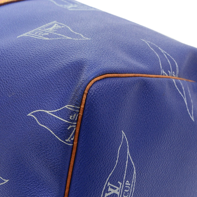 Louis Vuitton Blue Canvas Limited Edition 1995 Keepall 45