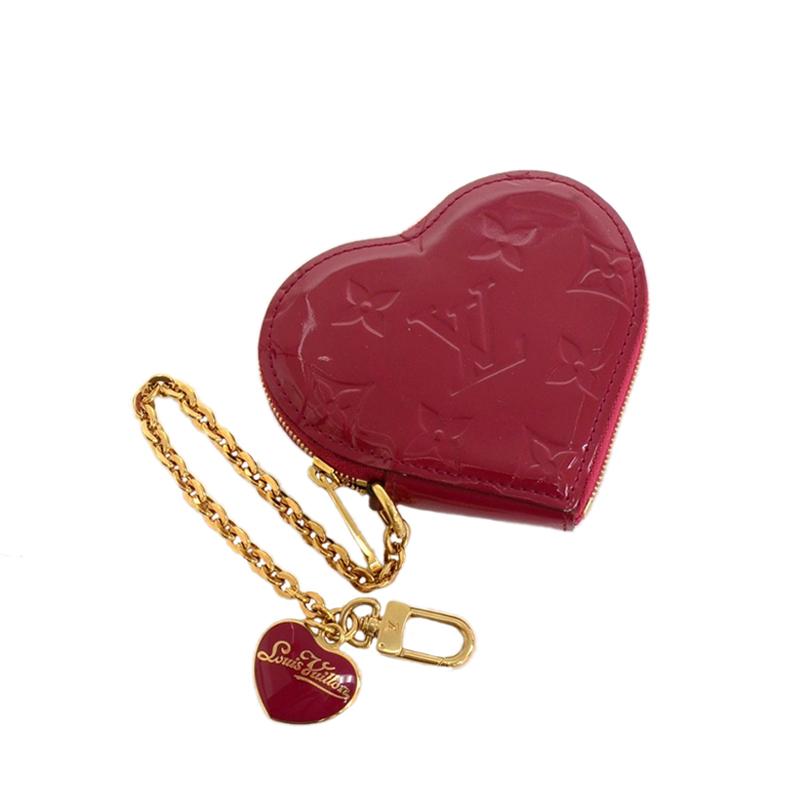 Louis Vuitton Red Pomme D´amour Vernis Heart Coin Purse