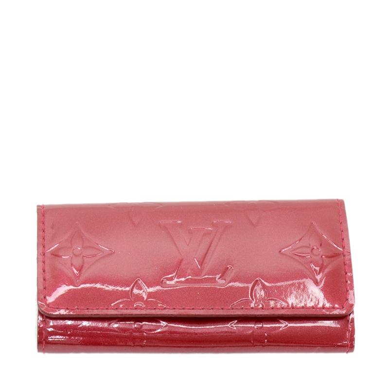 Louis Vuitton Red Monogram Vernis 6 Keys Holder