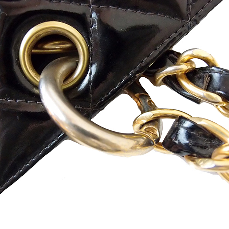 Chanel Black Patent Grand Shopper Tote