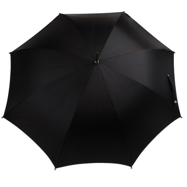 Alexander McQueen Black Golden Skull Detail Umbrella