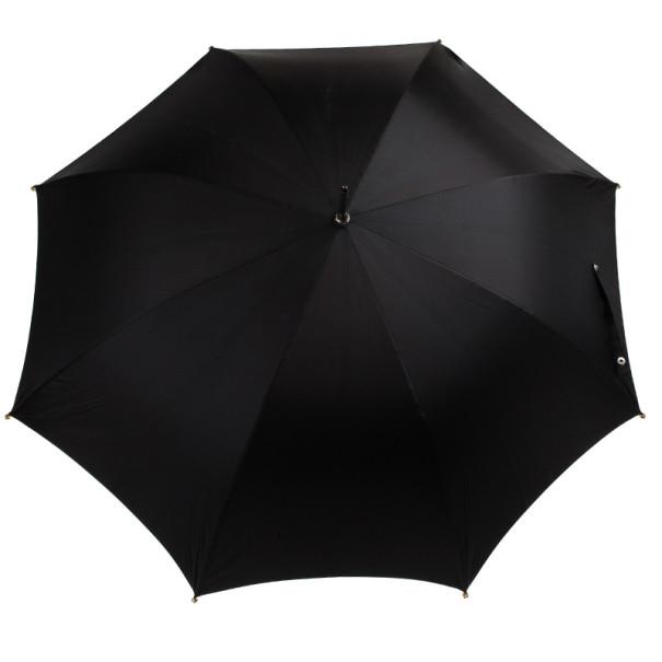 Alexander McQueen Black Golden Skull Detail Umbrella