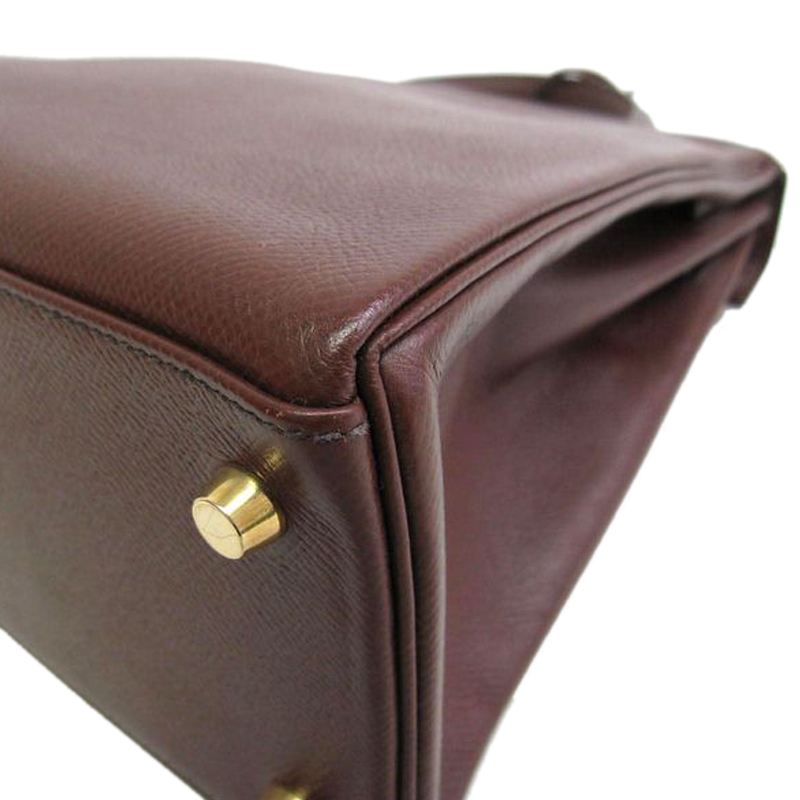 Hermes Brown Courchevel Kelly 28