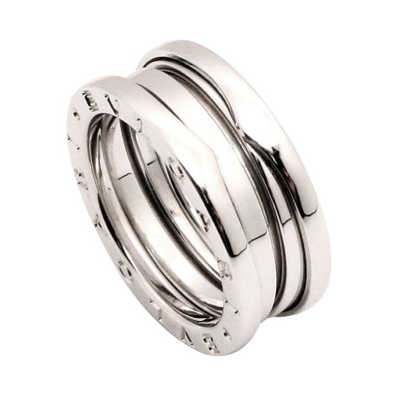bvlgari b zero1 18k white gold 3 band ring size 53 buy
