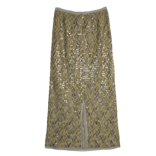 Missoni Maxi Sequin Skirt M
