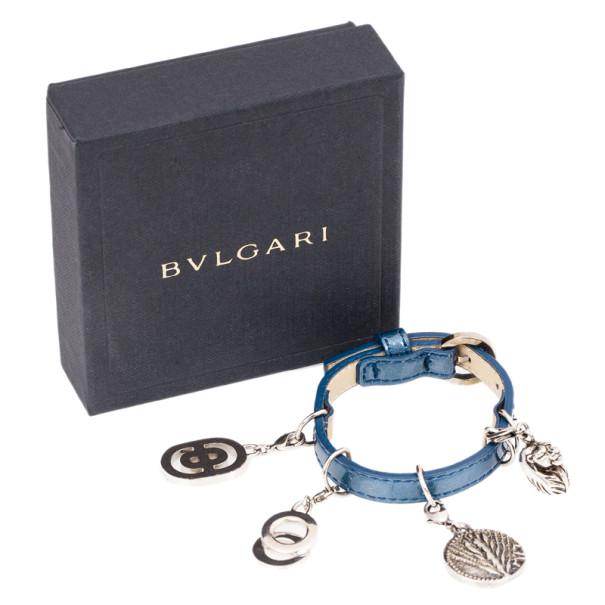 Bvlgari Leather Charm Bracelet