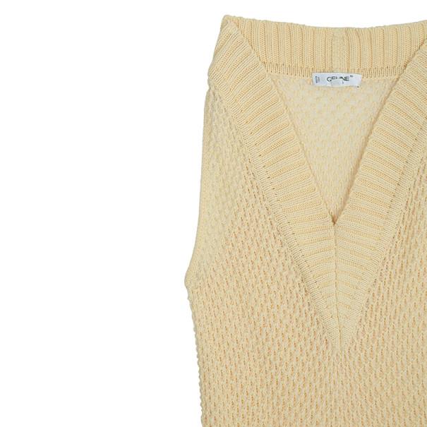 Celine Vintage Cable Knit Vest M