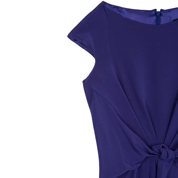 Tadashi Shoji Gathered Silk Dress L