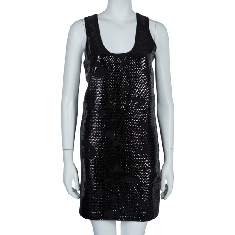 See by Chloe Black Sequin Tank Dress M - Buy &amp Sell - LC