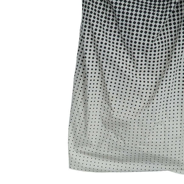 Paule Ka Black Polka Dot Wrap Dress S