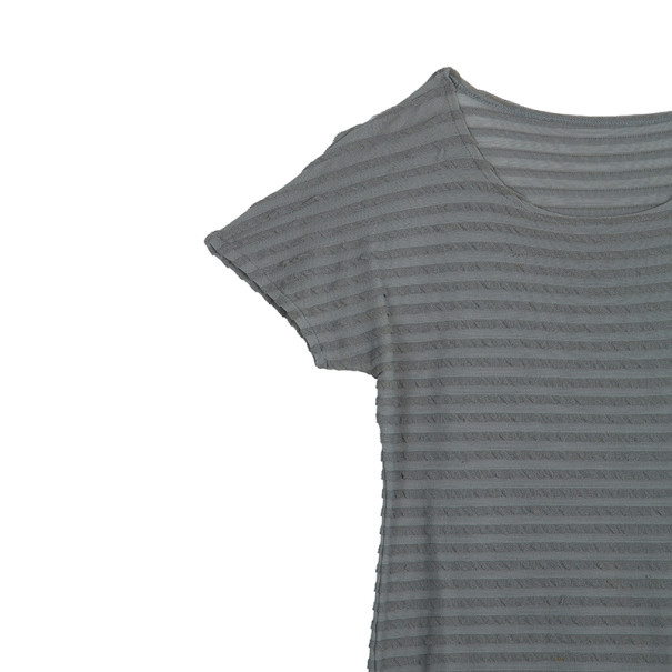 Giorgio Armani Gray Short Sleeve Top XL