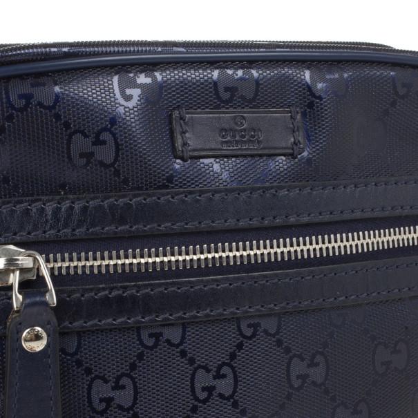Gucci Blue Guccissima Leather Crossbody Bag