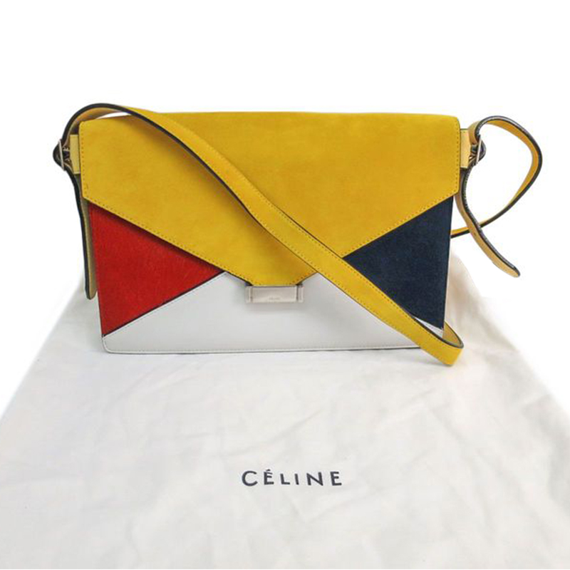 celine classic box price - Celine Multicolor Leather and Suede Diamond Clutch Bag - Buy ...