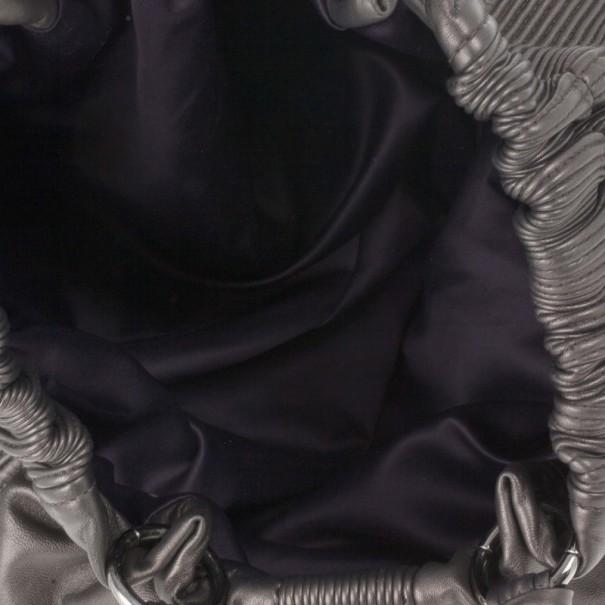 Miu Miu Bronze Leather Tote
