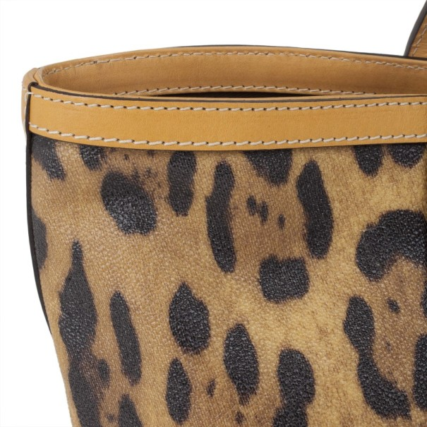 Dolce and Gabbana Leopard Print Miss Escape Tote