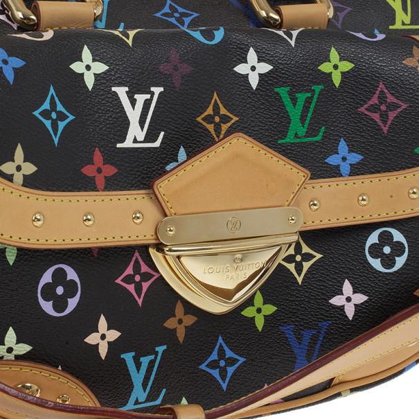 Louis Vuitton Black Multicolore Canvas Rita