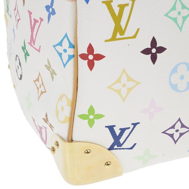 Louis Vuitton White Multicolor Canvas Speedy 30
