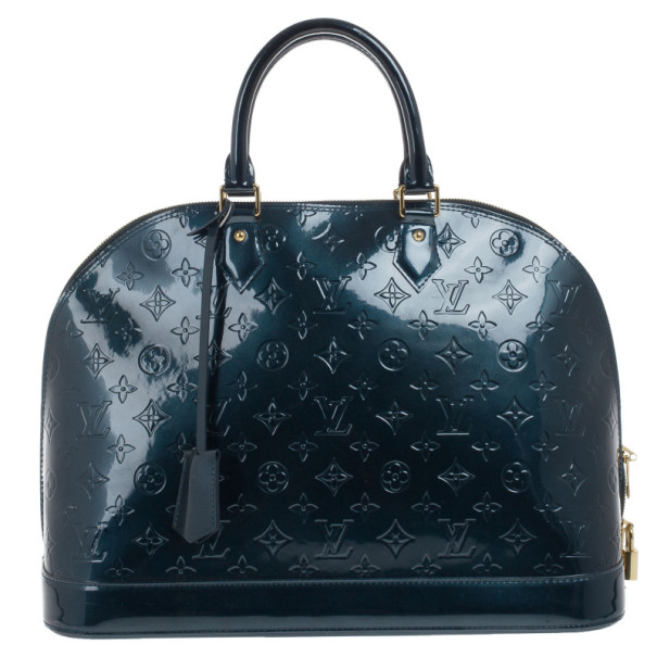 Louis Vuitton Green Monogram Vernis Alma GM